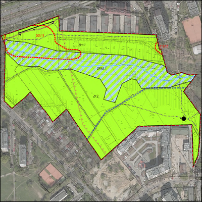 Rysunek planu w przeglądarce opracowań kartograficznych