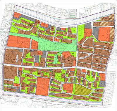 Rysunek planu wprzeglądarce opracowań kartograficznych