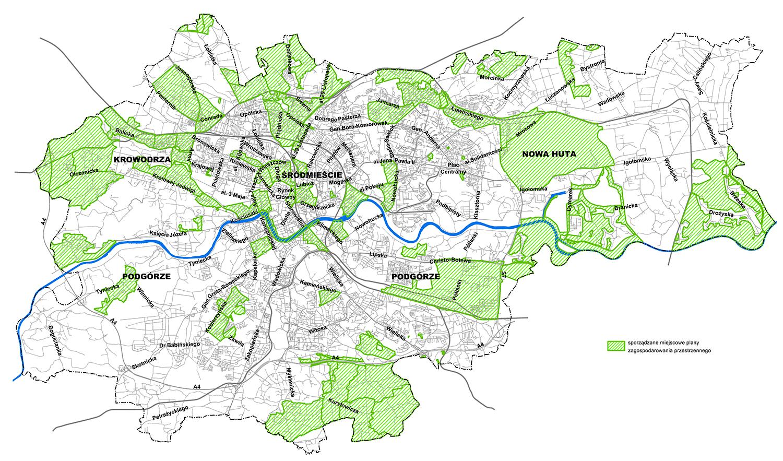 Mapa z planami sporządzanymi