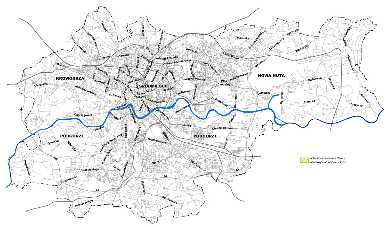Mapa z planami uchwalonymi oczekującymi na wejście w życie